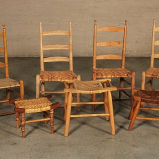 GROUP OF 7 AMERICAN CHAIRS