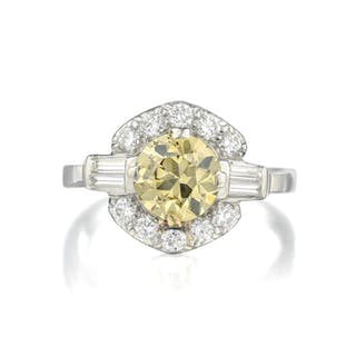 Art Deco Colored Diamond Ring