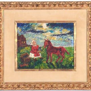 David Davidovich Burliuk (attrib.), painting