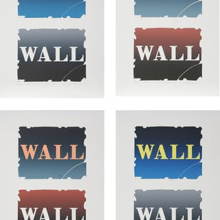 Robert Indiana, Wall: Two Stone I - IV, Set of 4 Lithographs