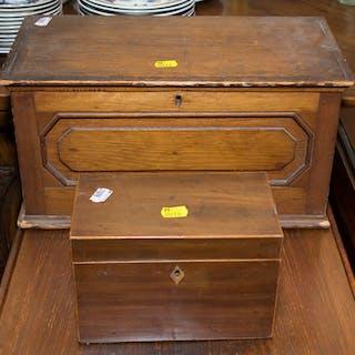 Mahogany Tea Caddy & Pine Box