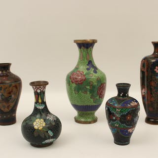 5 PC. MISC. LOT OF CLOISONNE, C.1900