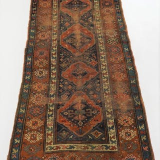 Persian Sarouk Geometric Flower Carpet Rug Runner