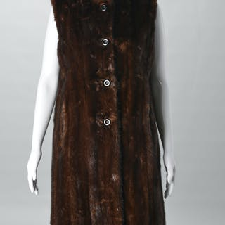 Vintage Ben Kahn ladies long fur vest