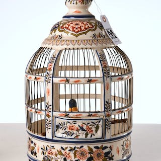 French faience birdcage