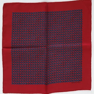 Hermes Paris chain link pocket square