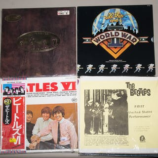 Group of Mostly Vintage Beatles Import Albums