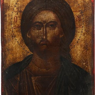 EARLY GREEK ICON OF CHRIST