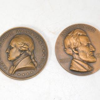 Pair medals, Washington 1932, Lincoln 1933