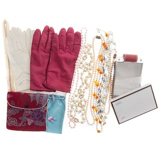Group of Lady's Gloves, Costume Jewelry