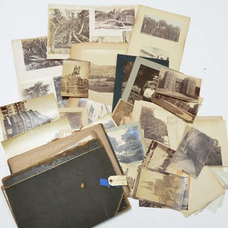 Large collection early photographs, 1890 album