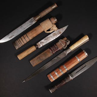 (4) ETHNIC STRAIGHT BLADE KNIVES