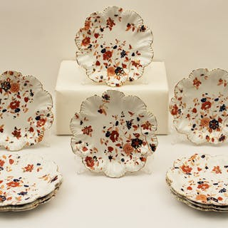 SET OF 10 ENGLISH STONEWARE PLATES
