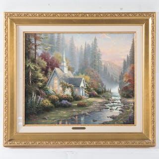"Thomas Kinkade. ""The Forest Chapel"""