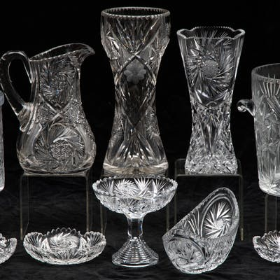 Cut Crystal Serving and Decorative Items