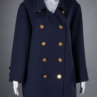 Hermes Paris navy wool pea coat