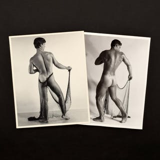 2 Bruce Bellas Nude Male Physique Photos - Bruce Bellas (1909-1974)