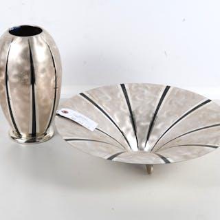 (2) WMF Ikora Art Deco silver plated articles