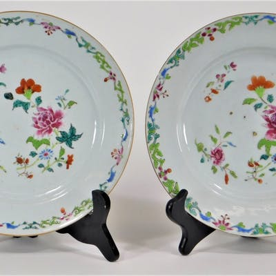 PR 18C Chinese Export Famille Rose Porcelain Plate