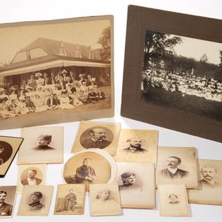 ASSORTED CARTES DE VISITE, CABINET CARDS, AND PHOTOGRAPHS, LOT OF 18