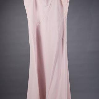 Giorgio Armani pink crepe evening gown