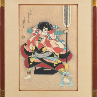 Hasegawa, woodblock warrior print