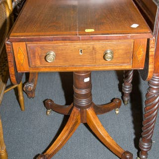 English Regency Rosewood Single-Drawer Stand