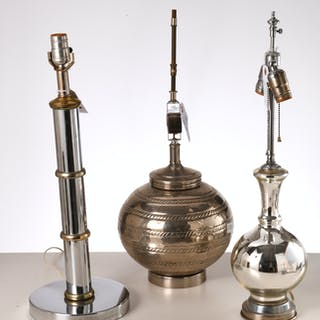 (3) modernist table lamps