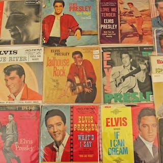 62 ELVIS PRESLEY 45 RECORDS