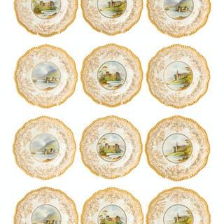 Twelve Copeland Spode plates