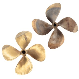 Two Brass Ship's Propellers