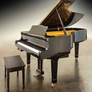 Young Chang black lacquer grand piano