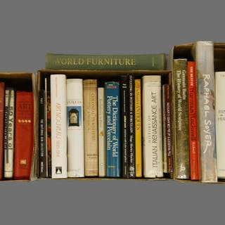 (3) BOXES OF ART HISTORY AND ANTIQUE-RELATED BOOKS