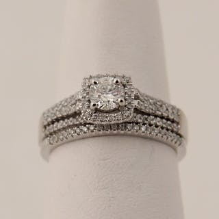 14K WHITE GOLD 2 PC. DIAMOND BRIDAL SET