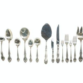 "A Gorham ""Melrose"" sterling silver flatware service"