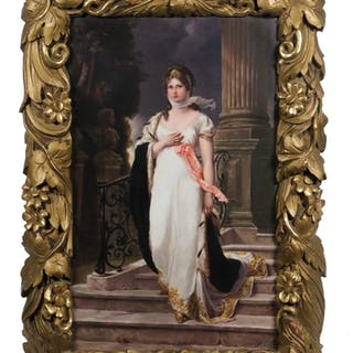 HAND PAINTED PORCELAIN PLAQUE - QUEEN LOUISE OF PRUSSIA (1776-1810)