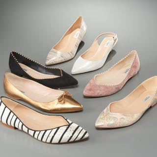 Group of ladies L.K. Bennett London shoes