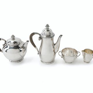 A Georg Jensen No. 32 sterling silver coffee and tea service