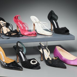 Group of Manolo Blahnik shoes