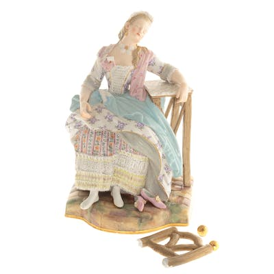 Meissen Porcelain Figure, The Love Letter