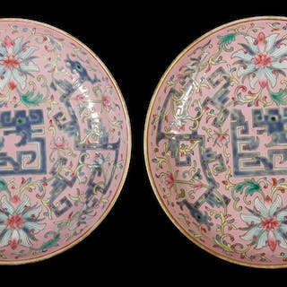 PR OF 19TH C. CHINESE PORCELAIN SAUCERS
