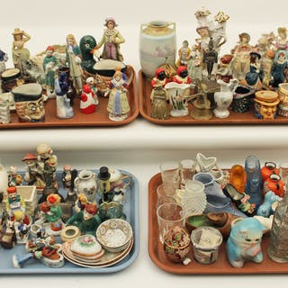 4 MISC. TRAY LOTS OF COLLECTIBLE FIGURES