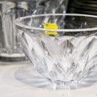 Two Art Glass Bowls: Orrefors and Kosta Boda