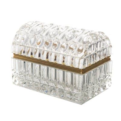 Continental Gilt-Metal-Mounted Glass Box
