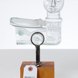 Bertil Vallien for Kosta Boda, art glass sculpture