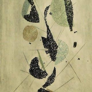 Arthur Luiz Piza Modern Geometric Abstract Etching - Arthur Luiz Piza