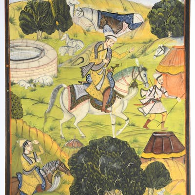 Mughal School, large painting