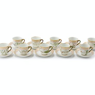 "A set of Royal Copenhagen ""Flora Danica"" demitasse cups and saucers"