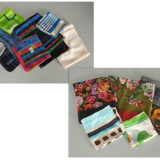Group of (12) Yves Saint Laurent scarves