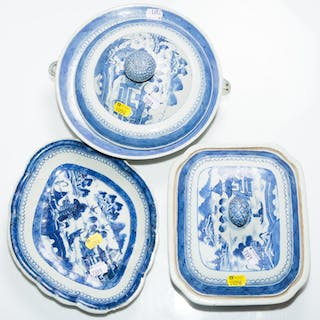 Three Pieces of Chinese Export Canton China